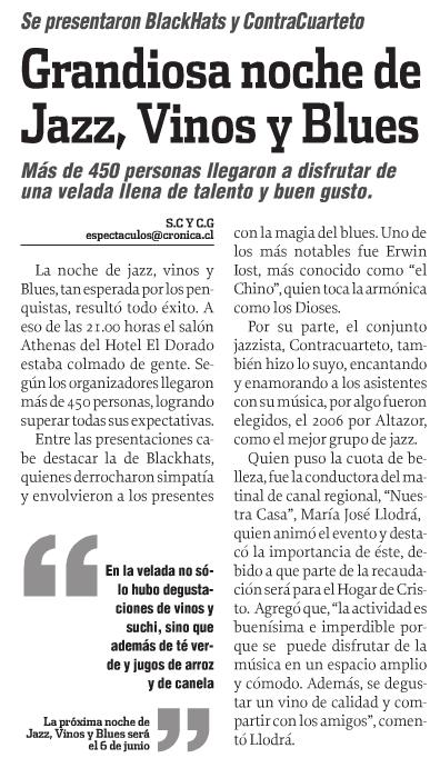 nota publicada en espect culos de diario cr nica vess